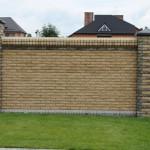 забор из гиперпрессованного кирпича фото