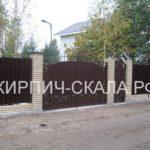 забор из кирпича слоновая кость
