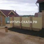 Кирпичный забор с профлистом