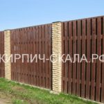 забор из гиперпрессованного кирпича