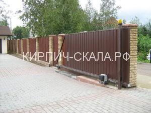откатные ворота с приводом